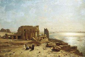 Egyptian Ruins Beside The Nile