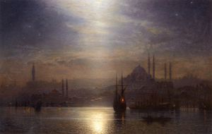 Night View Over The Bosphorus