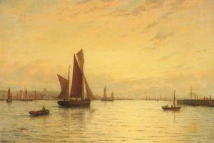 Fishing Boats Off Gorleston