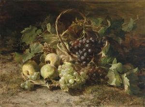 Corative Still Life With Grapes And Pears
