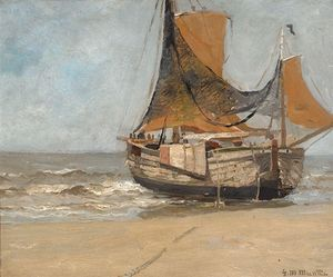 Barge On The Beach