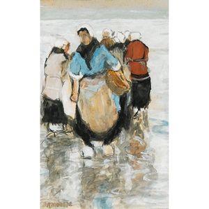 Fisherwomen On The Beach