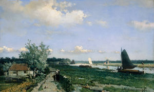 The Shipping Canal At Rijswijk