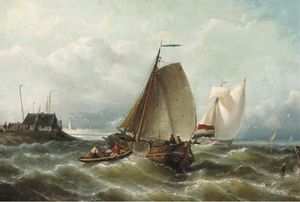 Shipping On Choppy Waters By A Coast