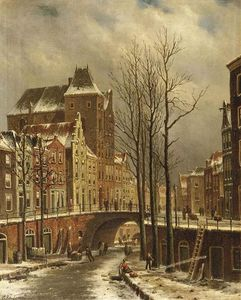 The Fortified City Castle Oudaen On The Oude Gracht In Winter