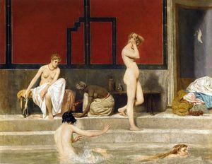Elegant Ladies At The Baths
