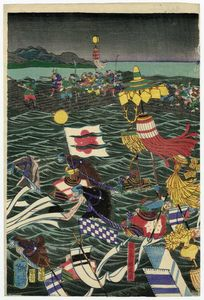 Sasaki Moritsuna And His Troops Crossing The Inland Sea