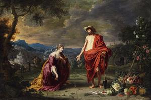 Jesus Als Gärtner Vor Der Knienden Maria Magdalena