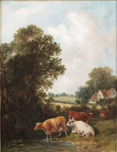 Cattle By A Pond And Another