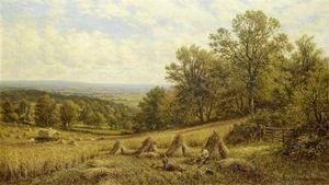 Harvest Scene Near Dorking, Surrey