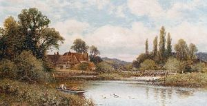 Pangbourne Weir, On The Thames