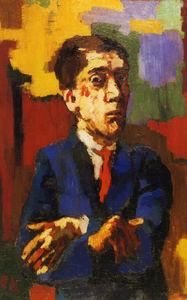 Autoportrait aux bras croisés, Self-portrait with the crossed arms, Huile sur Toile,