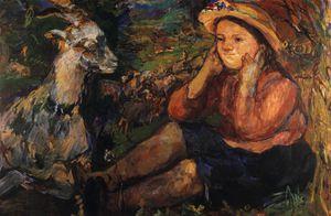 Pan (Trudl et la chèvre), Side (Trudl et la chèvre), de Huile Toile,