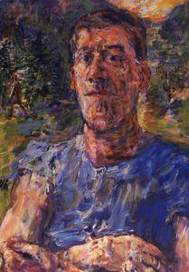 Autoportrait d'un artiste dégénéré, Self-portrait of a degenerated artist, Huile sur Toile,