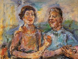 Autoportrait avec Olda, Self-portrait with Olda, Huile sur Toile,