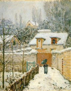 Snow at Louveciennes - -