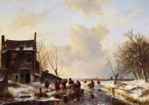 Winter landscape Sun
