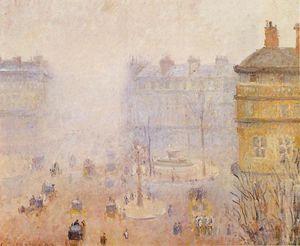 Place du Theatre Francais - Foggy Weather.
