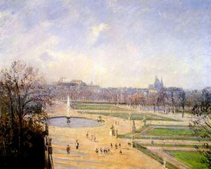 The Bassin des Tuileries - Afternoon, Sun.