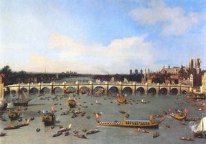 london, westminster bridge from the north on lord mayors day (19 october (1746))