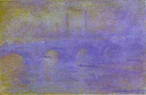 the waterloo bridge. the fog
