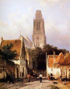 Church in Zaltbommel Sun