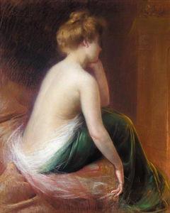 femme assise au lit