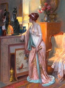 interior med kvinne
