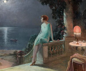 on the terrace