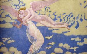 cupid carries psyche to the heavens