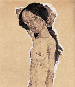 Female nude with black hair