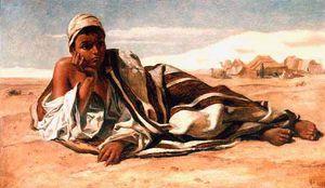 arab boy resting