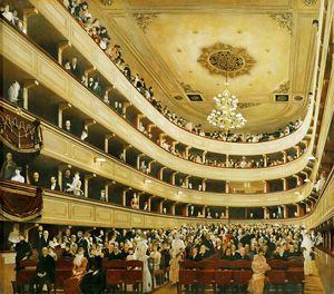 Auditorium in the Old Burgtheater, Vienna