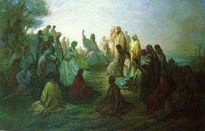 Dore Gustave JESUS PRECHANT SUR LA MONTAGNE