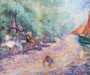 Bathers by the River