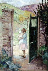 Girl by the Gate
