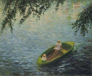 Young Girls in a Boat on the Marne