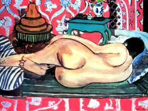 reclinnning nude back