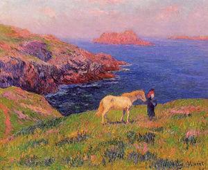 Клифф на Quesant с лошади
