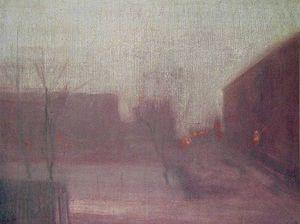 nocturne trafalgar square chelsea snow