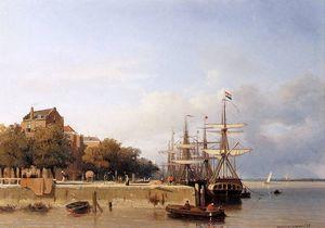 Ships on a quay Sun