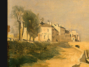 River Scene with Bridge (detail 1) -