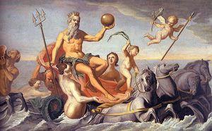 the return of neptune - oil on canvas -