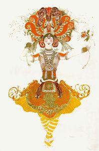 loiseau de feu costume pour tamara karsavina
