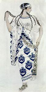 helene de sparte costume for ida rubinstein as helene