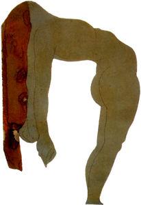 Auguste Rodin Femme nue aux cheveux renversés en arrière 2 Graphite et aquarelle sur papier