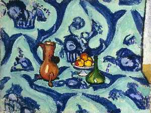 Nature morte camaîeu bleu Huile sur Toile St Petersbourg, museum of the Hermitage