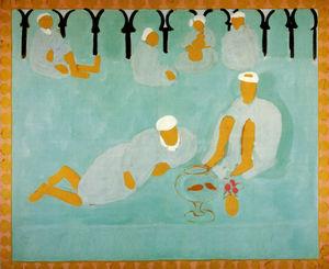 Le Café Arabe Peinture à la colle sur toile St Petersbourg, museum of the Hermitage