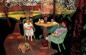 Le thé dans le jardin Huile sur Toile Los Angeles, Museum of Art
