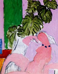 Nu au fauteuil et feuillage, Esquisse Huile sur Toile Nice , musée Matisse